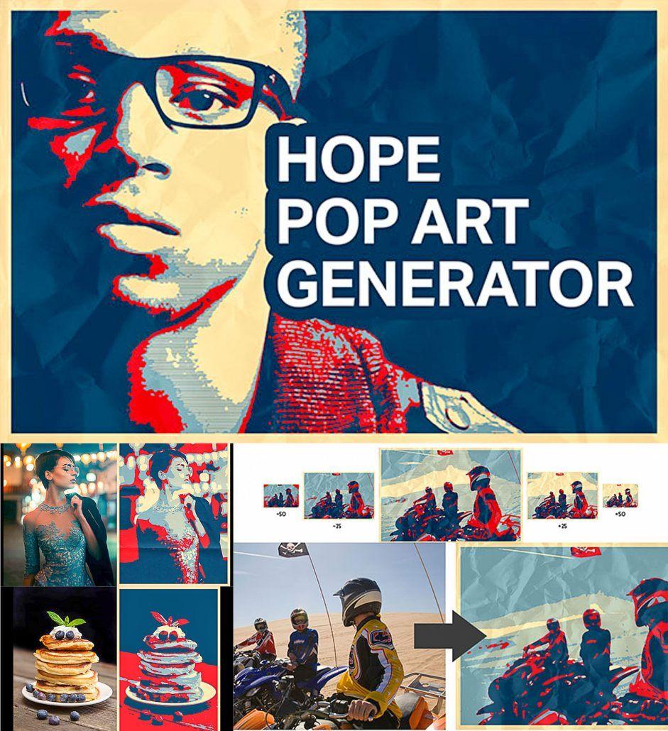 Hope Pop Art Generator Pop art, Obama poster, Poster