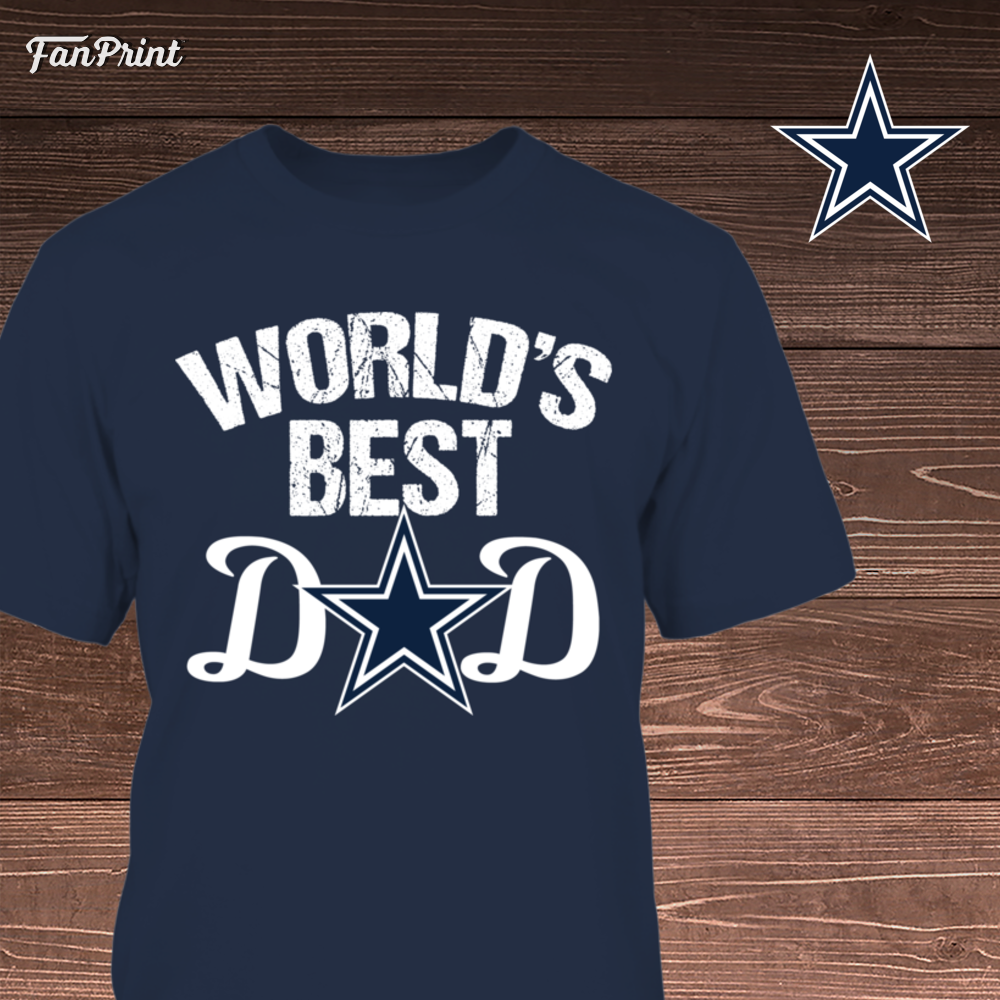 d21072b0d World s BEST DAD GIFT for Cowboy fan.  christmascowboysfan   fathersdaycowboyfan Printed in USA- 30 Day returns- Officially Licensed    Exclusive Designs!