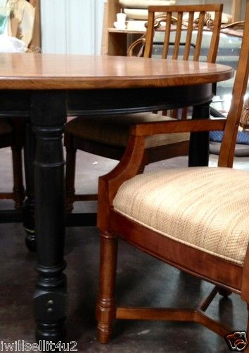 Thomasville Furniture Urban Retreat Dining Table And Saddle Finish Chair  Set $2350