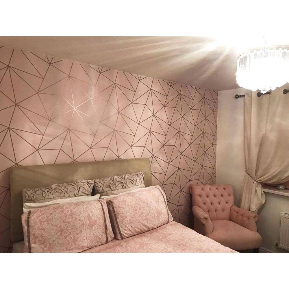 Best I Love Wallpaper Zara Shimmer Metallic Wallpaper Soft Pink 400 x 300