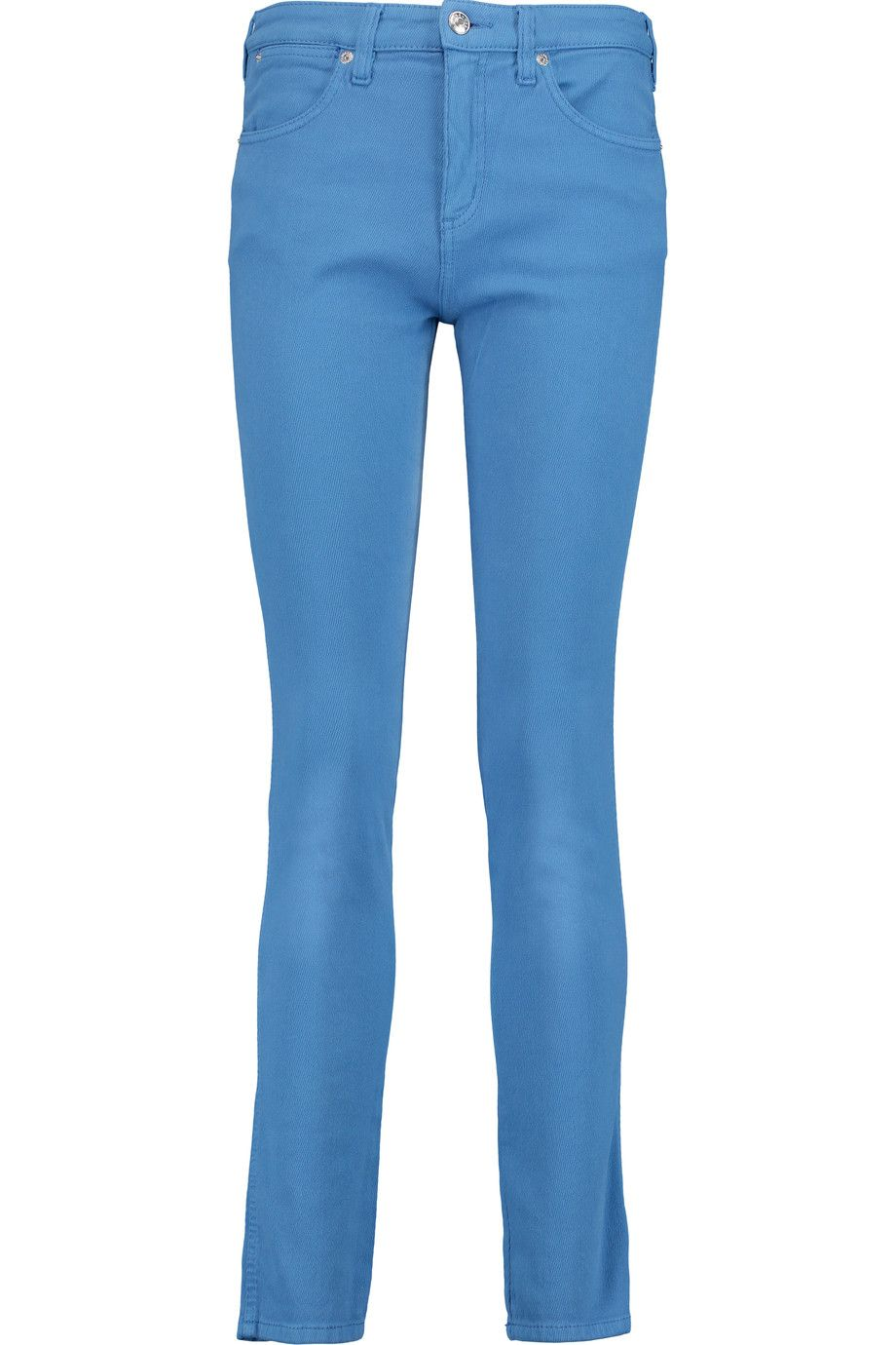 SEE BY CHLOÉ Cotton-Corduroy Mid-Rise Slim-Fit Jeans. #seebychloé #cloth #jeans