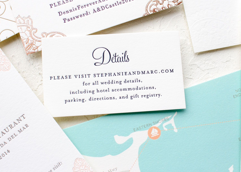 Insert Card Wording Samples Wedding invitation inserts