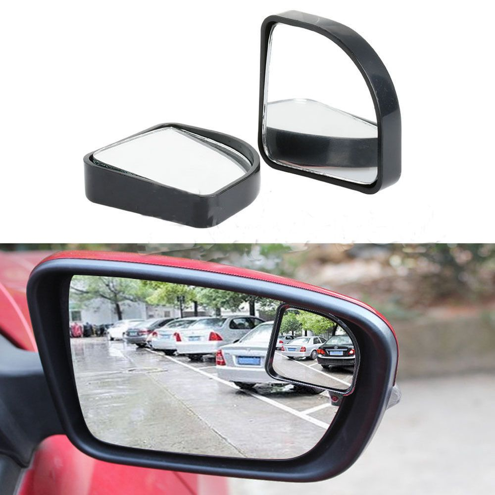 2pcs Car Blind Spot Side Mirror Rearview Convex Wide Angle