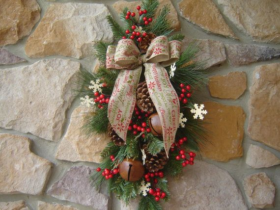 Christmas Swag, Christmas Wreath, Holiday Wreath, Front Door