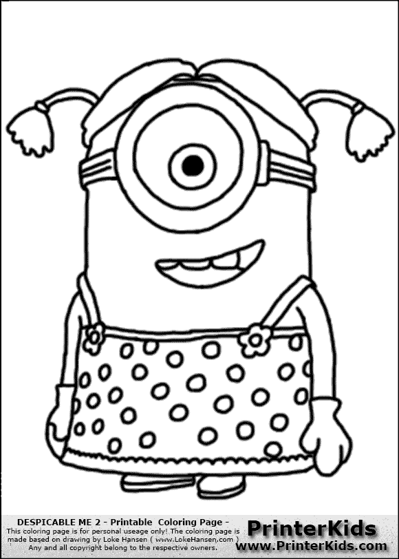 Minion Dave Coloring Page – *no show* Coloring Pages for Kids ...