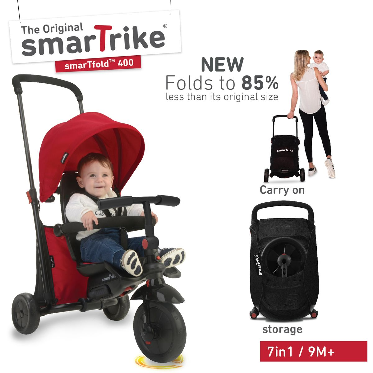 Smart Trike Roze Smartrike 7 In 1 Smartfold Trike Big W 178 Mom Life Baby
