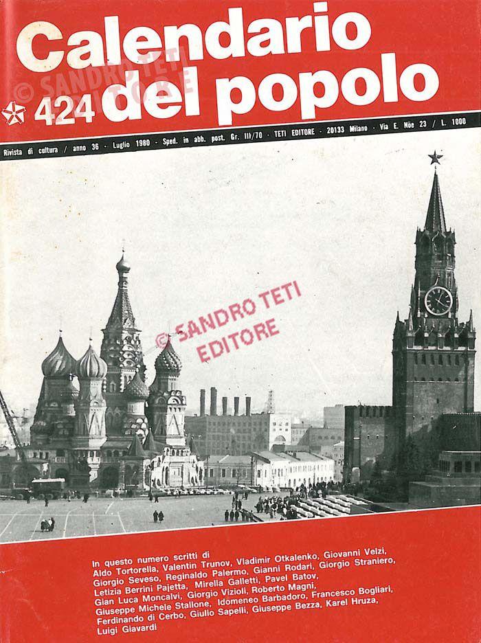Calendario Anno 1980.Il Calendario Del Popolo N 424 1980 Il Calendario Del