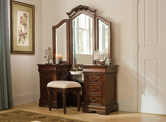 Regency Vanity And Stool Vanities Raymour And Flanigan Furniture Furniture Home Decor My Dream Home