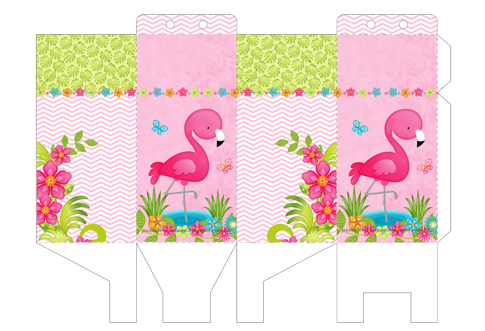Passatempo Da Ana Caixa Milk Flamingo Flamingo Party