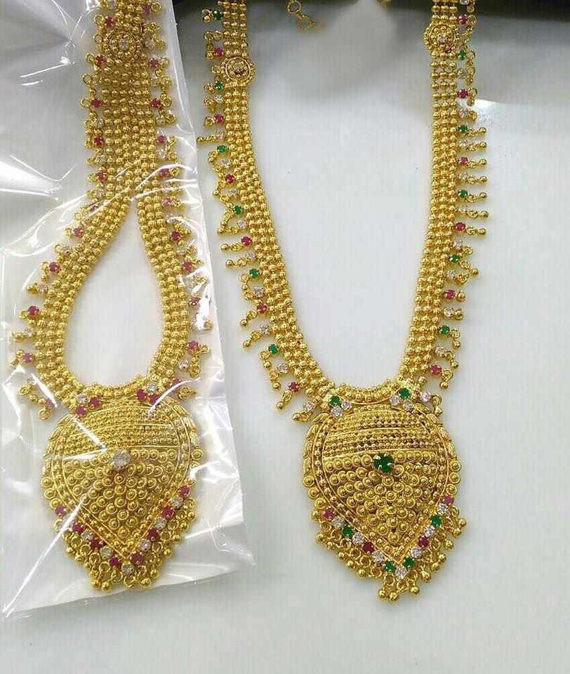 Artificial Gold Bridal Necklace Sets Bridal Necklace Set