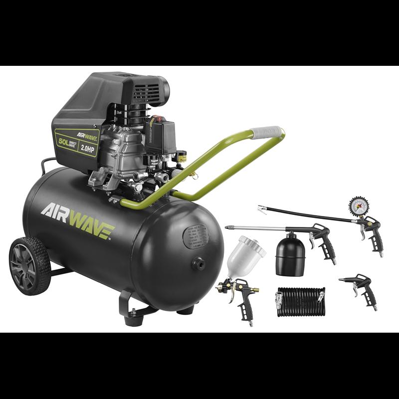 Ryobi 50L 2.0HP Airwave Air Compressor and Air Tool Kit