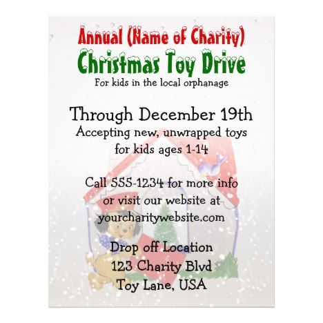 Christmas 2021 Mission Trips Annual Charity Christmas Toy Drive Puppy Cartoon Flyer Zazzle Com In 2021 Christmas Toy Drive Fundraiser Flyer Mission Trip Fundraising