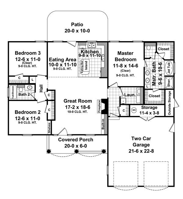 Better Homes Garden House Plans The Hampton House Plan