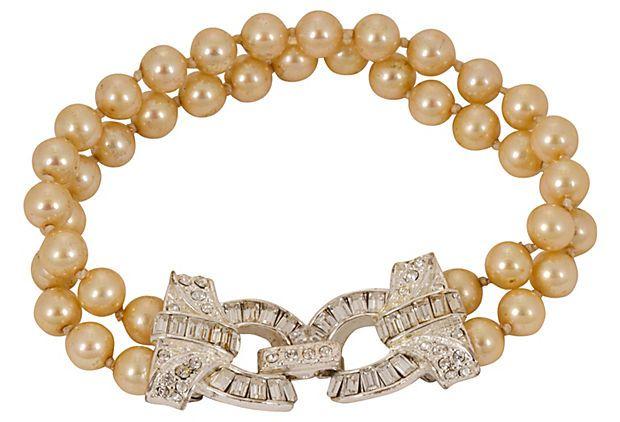 Carolee Double-Strand Pearl Bracelet on OneKingsLane.com