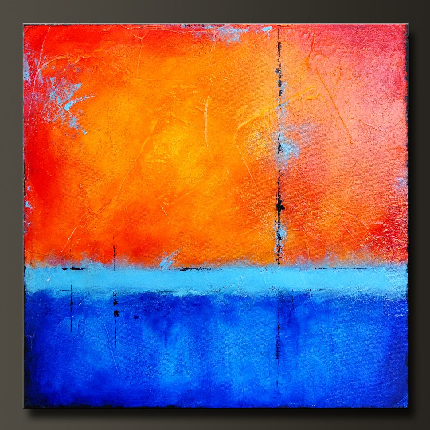 24 x 24 - Abstract Acrylic Painting - Contemporary Wall Art.