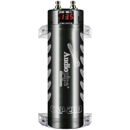 Audiopipe Acap-200 0 Power Capacitor, Black | Products in