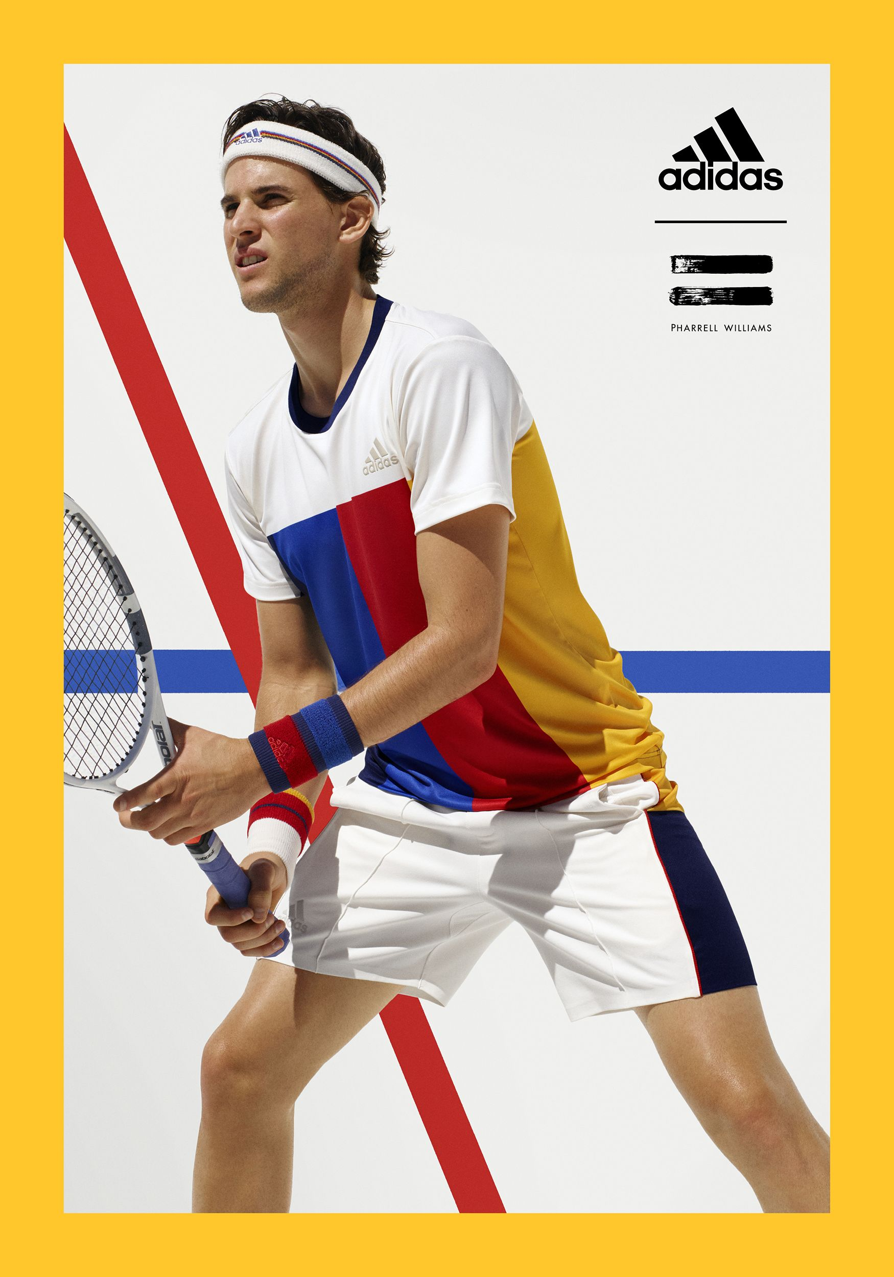 Adidas Tennis Pharrell Williams Collection Us Open 4 Sports Advertising Adidas Advertising Adidas Poster