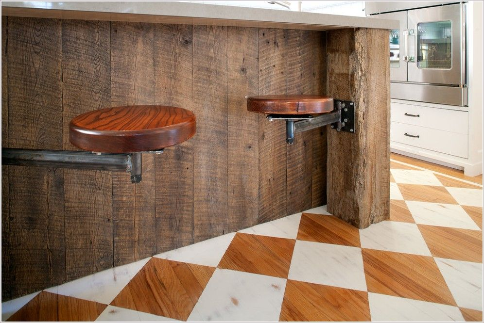 Spaces craftsman los angeles arts crafts caesarstone for Reclaimed wood flooring los angeles