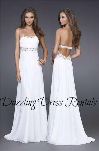 Dazzling Dress Rentals Utah Prom dress, prom dresses. white gown. we ...