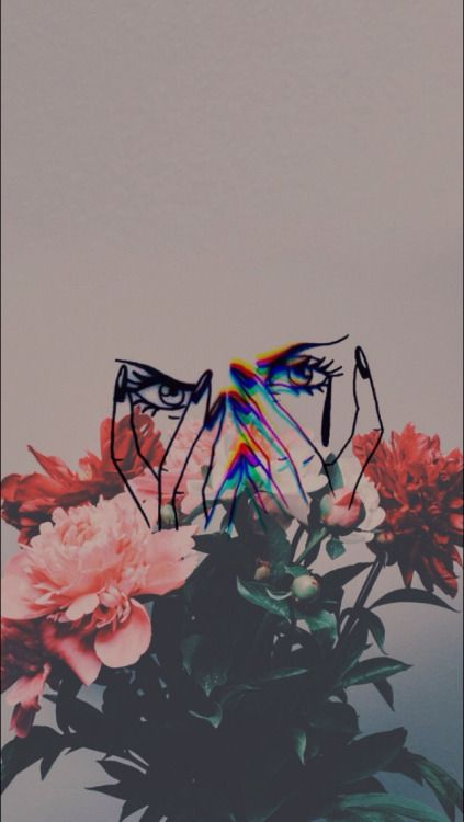 LOCKSCREENS! - LS #1&2: Flowers with a cute overlay