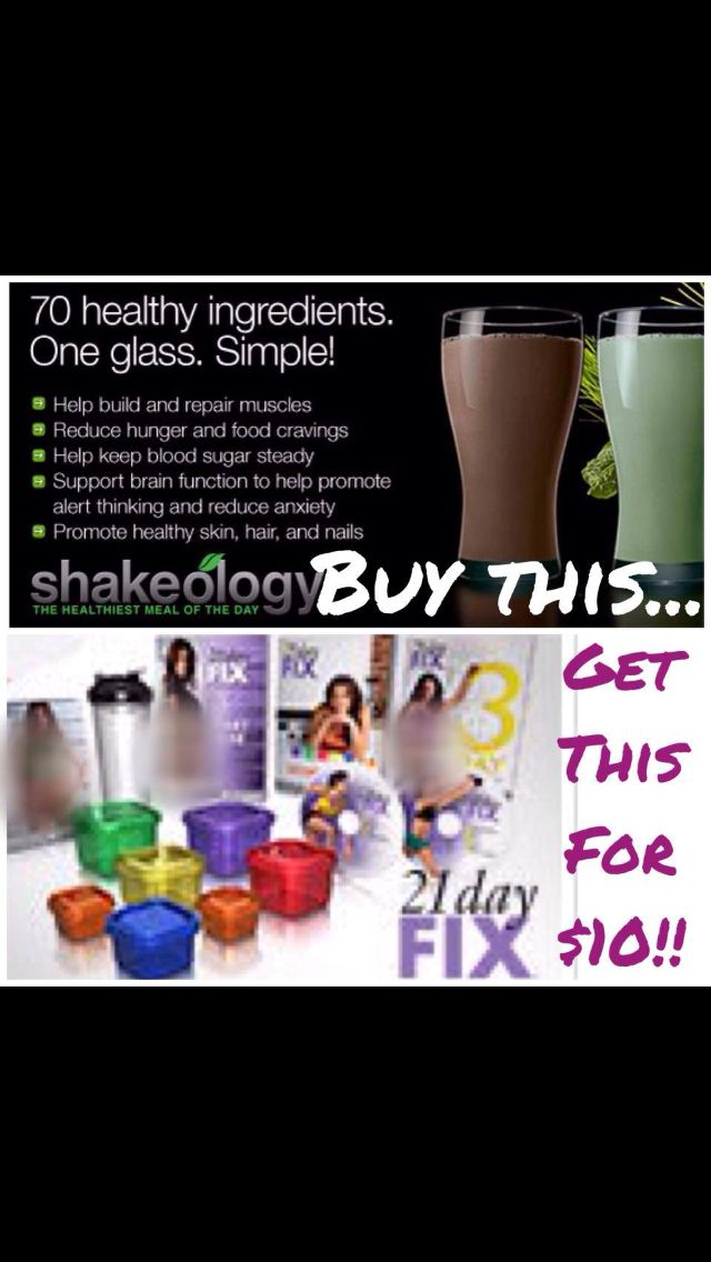 Have you heard of the 21 Day fix?! The fitness program that helps with weight loss by teaching you proper portion control with good nutrition! On sale with 1 month supply of Shakeology! Comment for more info!