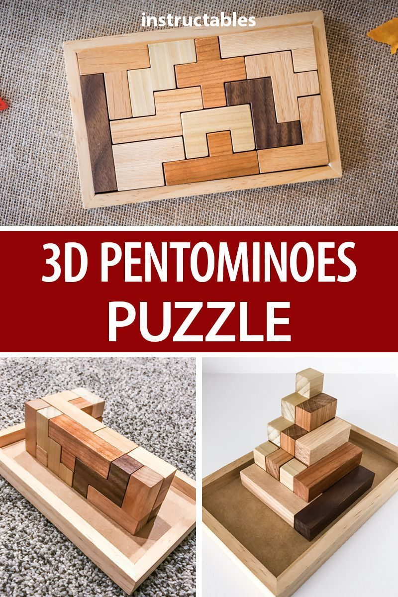 The 3D pentominoes puzzle consists of 12 simple pieces Each piece is unique and made up of 5 connected squares Make a set and see how many combinations you can create wit...