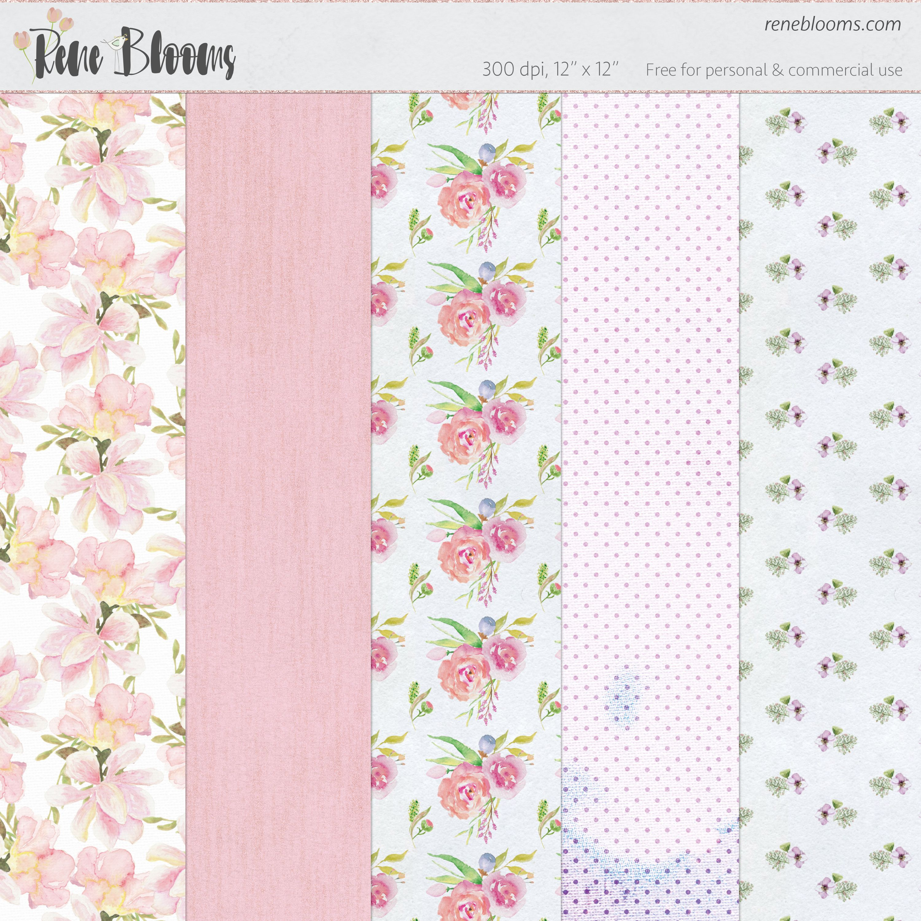 Download Amazing Digital Scrapbook Papers From Reneblooms Online For Free Hassle Downloads
