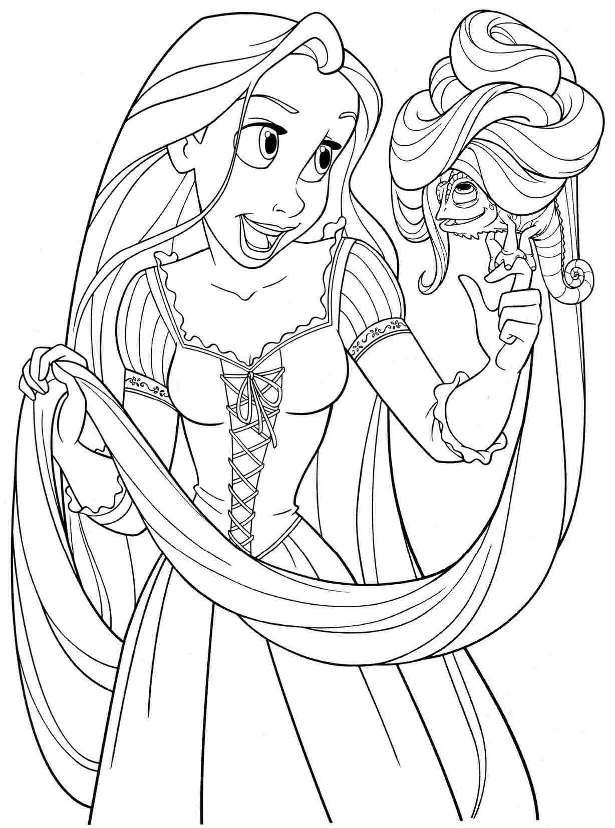 Printable Free Colouring Pages Disney Princess Rapunzel For Kids
