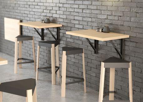 Table Murale Rabattable En Stratifie 8 Coloris Et 5 Dimensions Vulcano Par Cancio Table Murale Rabattable Table Murale Interieur De Restaurant