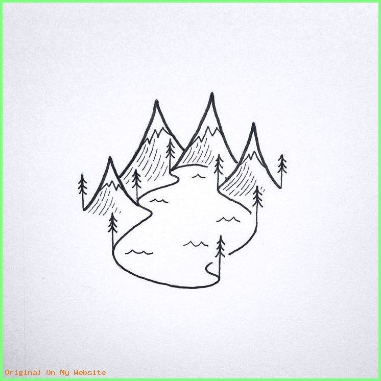 Art Drawings Tumblr Image Result For Drawing Lake Easy Simple