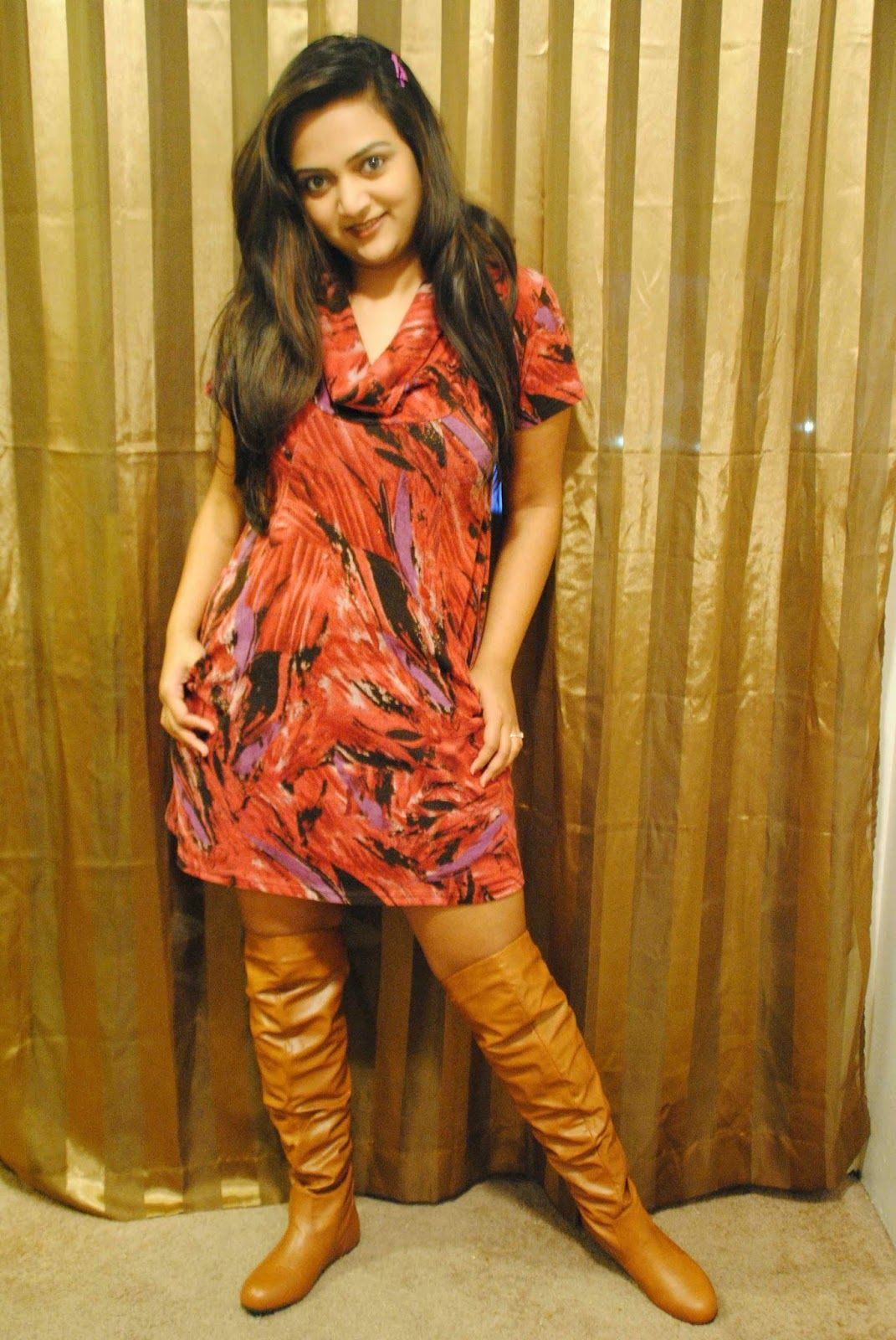 Suede Dresses Dress With Pockets Over The Knee Boots