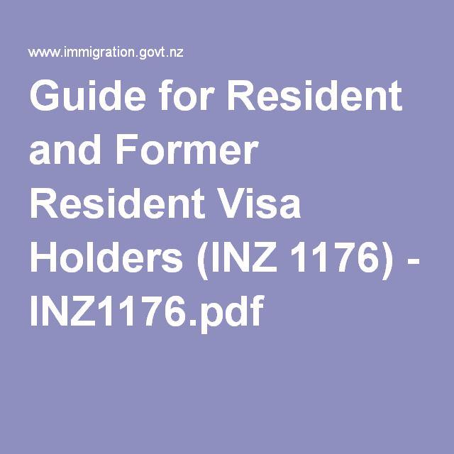 Guide for Resident and Former Resident Visa Holders (INZ 1176 - best of invitation letter format for japan visa