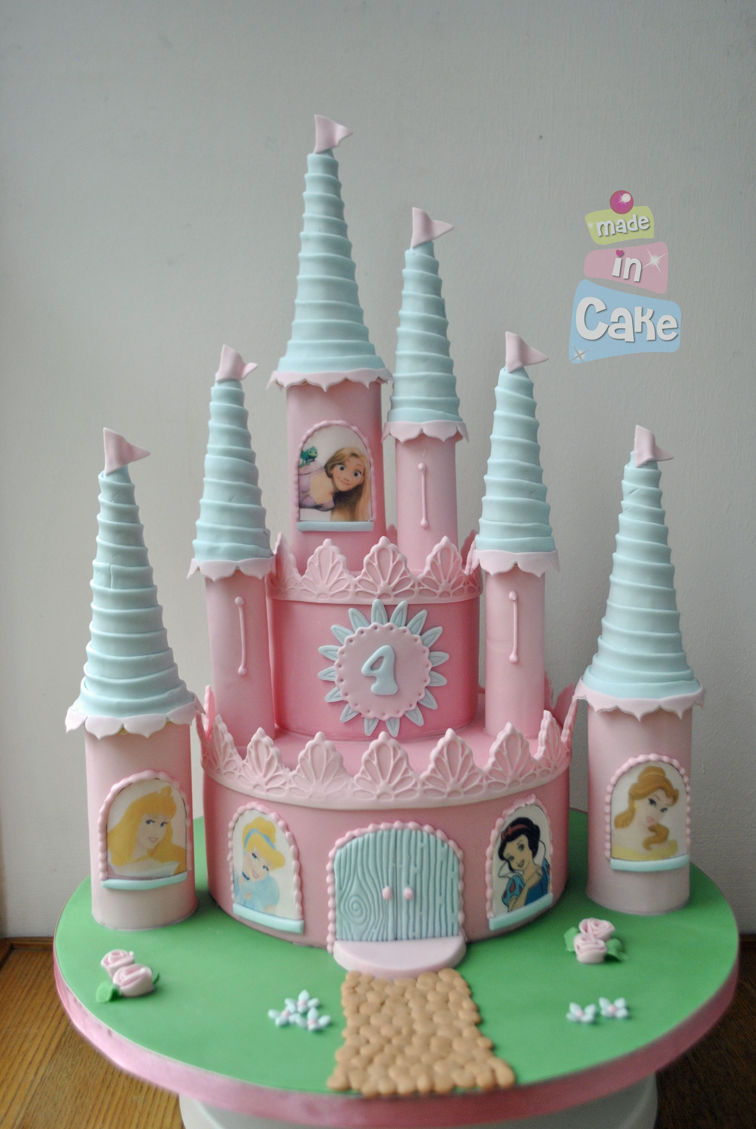 Disney Princess Castle Cake Pink With Images Princess