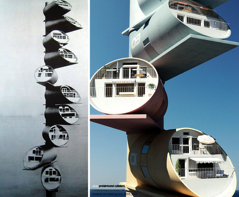 Back In The 1960 S Guy Dessauges Modular Apartments