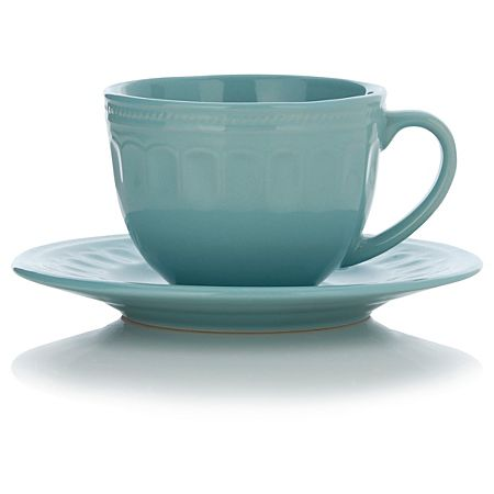 George Home Blue Teacup and Saucer