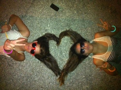 Bestfriends. @faithbushnell we need to do this..when both are hair is curly and straight and both:)