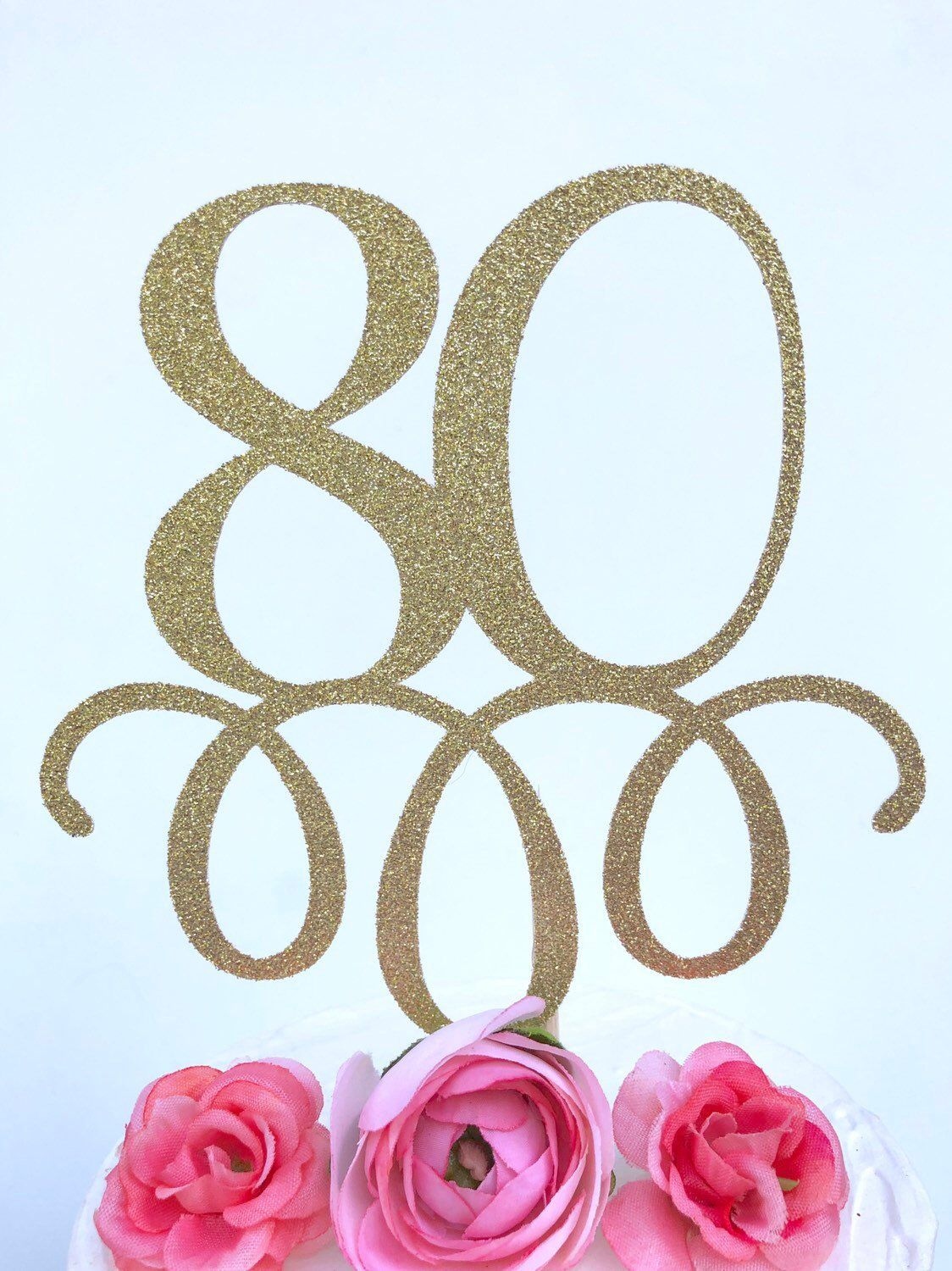 """10 LARGE OVAL GLITTER DIE-CUT """"HAPPY BIRTHDAY"""" TOPPERS"""