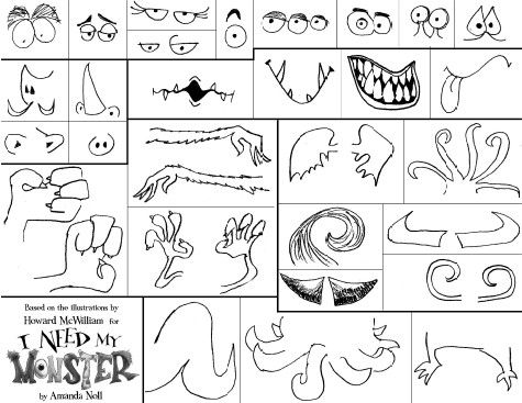 Monster Parts Worksheets Bing Images Monster Activities
