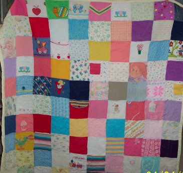 Patchwork quilt made from old baby clothes - I'm so going to make ... : make a quilt out of shirts - Adamdwight.com