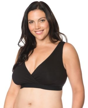 d94fbb643be48 Motherhood Maternity Plus Size Nursing Wrap Sleep Bra - Black 3X ...