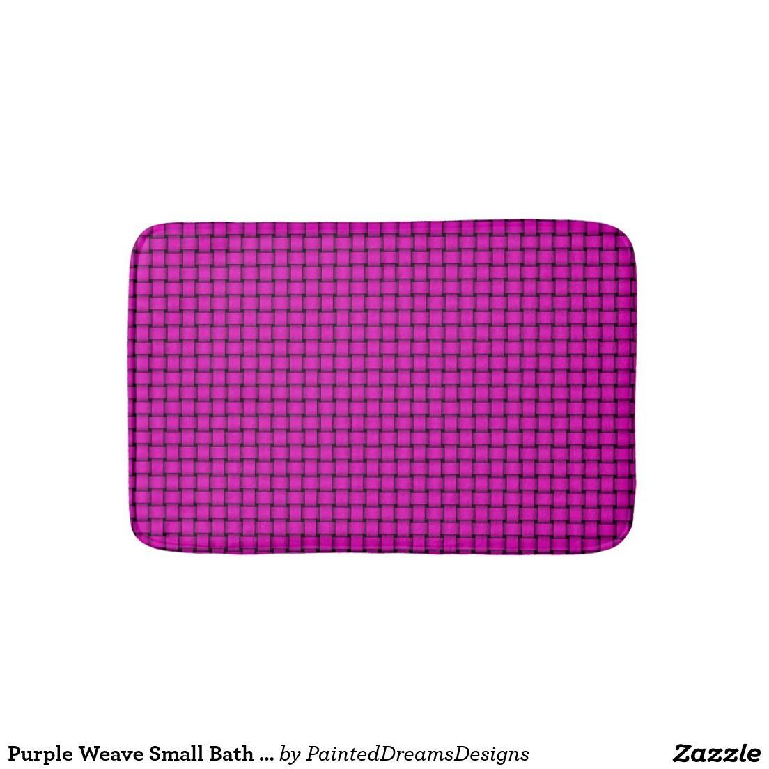 Purple weave small bath mat bath mats bathroom decor pinterest