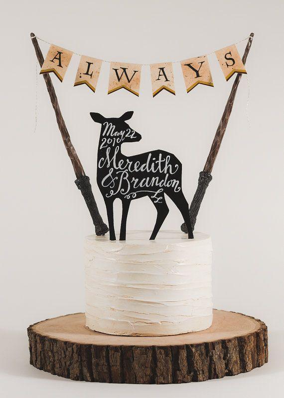 Always Harry Potter Inspired Wedding Cake Topper Wedding