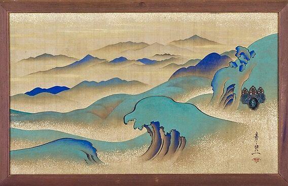 Mountainous Landscape. Suzuki Kiitsu (Japanese 1796u20131858. Edo period (1615 & Mountainous Landscape. Suzuki Kiitsu (Japanese 1796u20131858. Edo ...