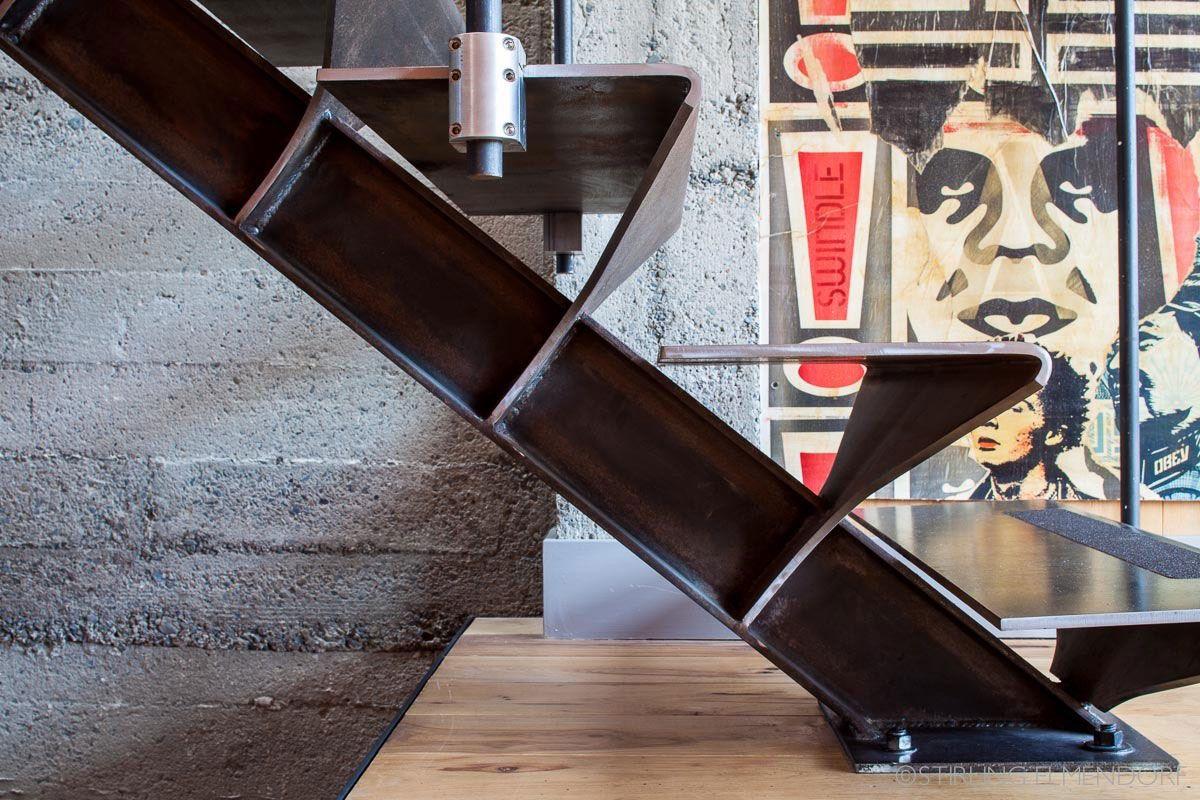 Metal Stairs, SF Loft In San Francisco, California By Wardell + Sagan  Projekt