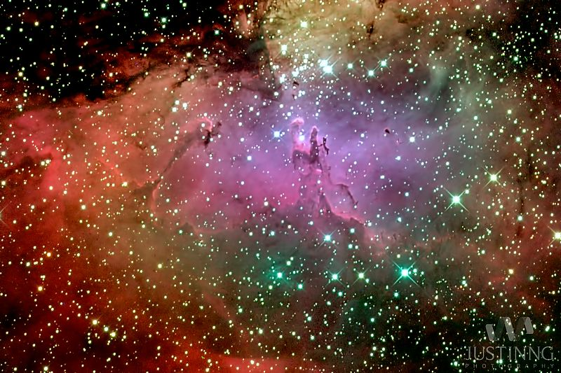 The Eagle Nebula (M16) is a young open cluster of stars in