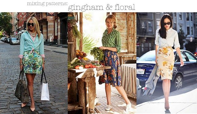 Gingham and floral combination-fabulous