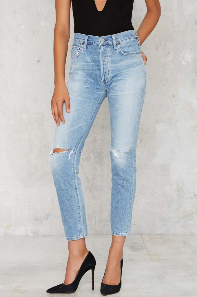 Citizens of Humanity Liya High Rise Jeans - Clothes | Distressed