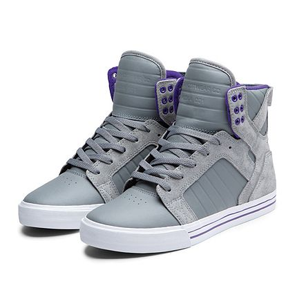 ee782b47b352 SKYTOP GREY PURPLE WHITE by Supra Footwear