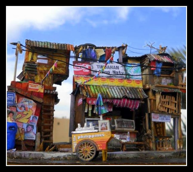 Philippine Urban Setting Series I Scratchbuilt Diorama Of A Street