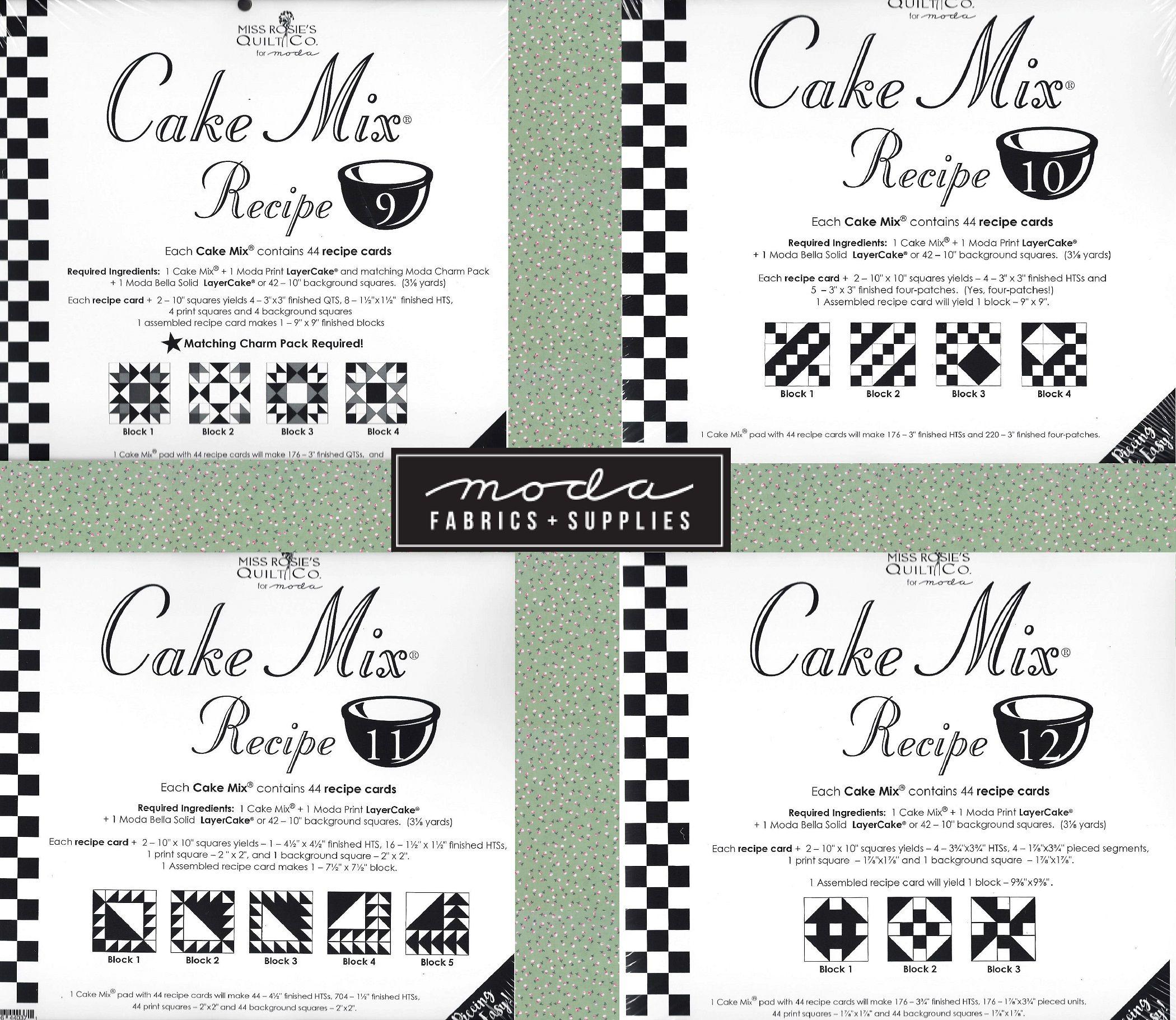 Cake Mix Recipe 6 Miss Rosies Quilt Co
